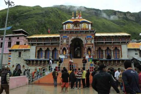 Badrinarayan Temple in Garhwall Hills is dedicated to Lord Vishnu