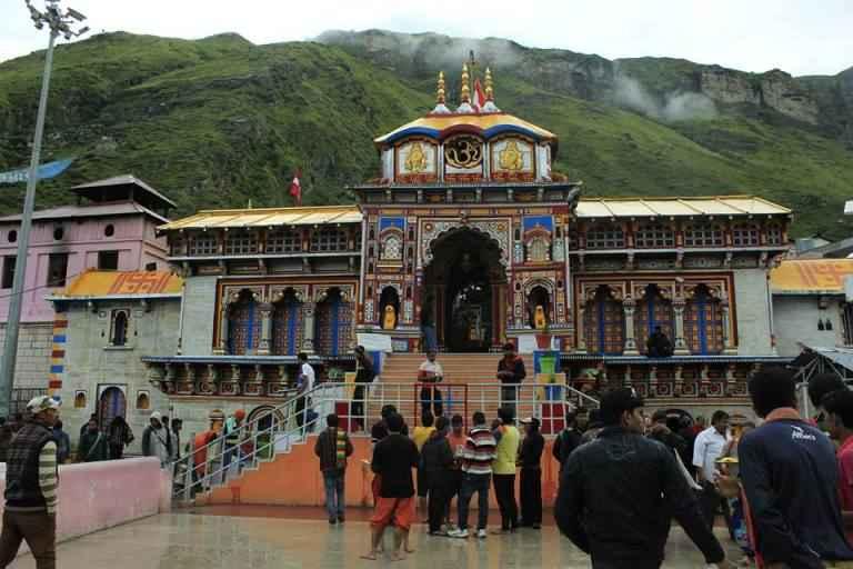 Badrinarayan Temple in Garhwall Hills is dedicated to Lord Vishnu